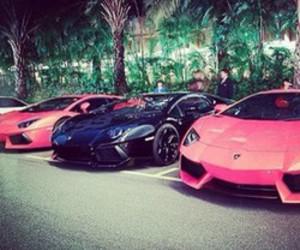 pink, car, and black image