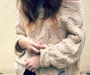 cream, jumper, and fashion image