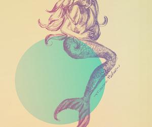 mermaid, blonde, and girl image