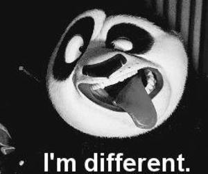 different, panda, and funny image