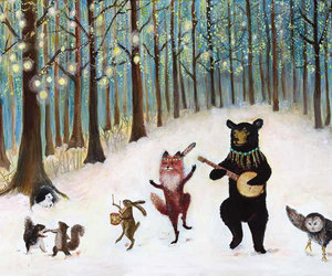 animal, music, and forest image