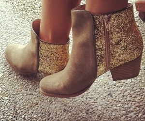 boots, shoes, and glitter image