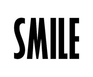 smile, black and white, and text image