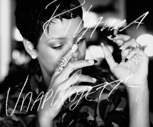 rihanna, black and white, and pretty image