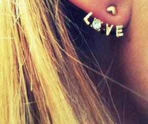 love, earrings, and piercing image