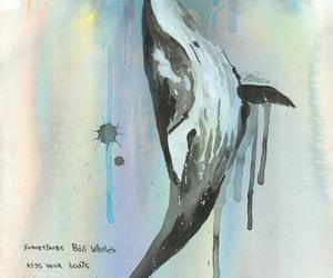 beautiful, illustration, and whale image