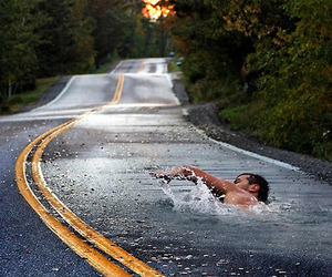 road, swimming, and swim image