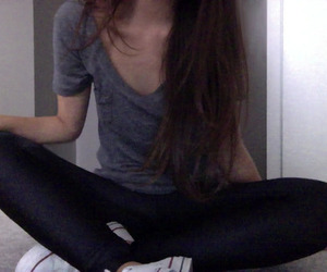 girl, skinny, and pale image