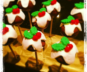 baking, cake pops, and christmas image