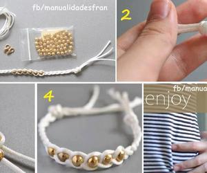 bracelet and tutorial image