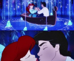 love, kiss the girl, and ariel and prince eric image