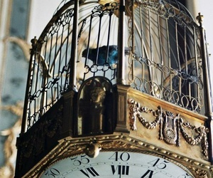 clock, bird, and vintage image