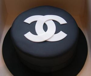 chanel, cake, and black image