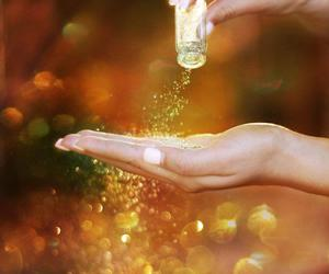 glitter, hand, and sparkle image