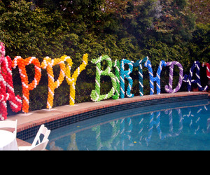 balloons, colorful, and happy birthday image