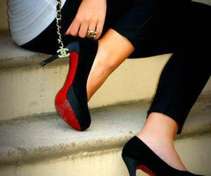 bottoms, chanel, and heels image