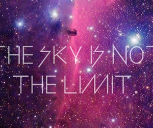 quote, galaxy, and sky image