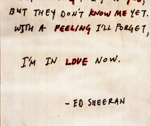 ed sheeran, love, and Lyrics image