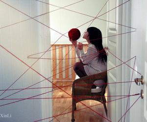 red and yarn image