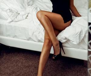 bed, morning, and woman image