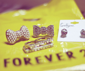 forever 21, bow, and jewelry image