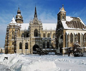 cathedral, slovakia, and winter image