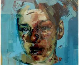 contemporary, paint, and Jenny Saville image