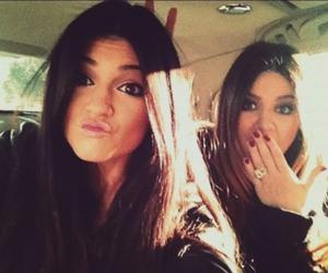 girl, kylie jenner, and khloe kardashian image
