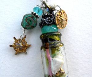 bottle, charms, and fairy tale image