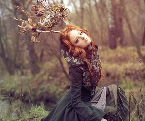 redhead, forest, and ginger image