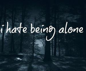 alone, forest, and text image