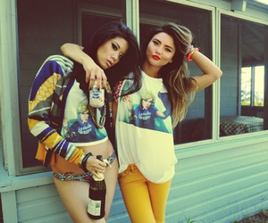 girl, friends, and swag image