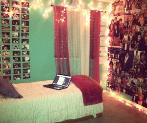 bedroom, girly, and lights image