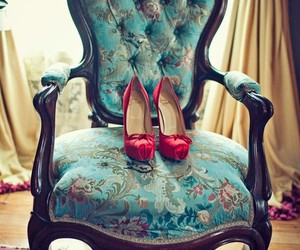 shoes, vintage, and chair image