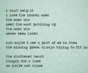 love, quote, and broken image