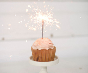 cupcake, birthday, and sparkle image
