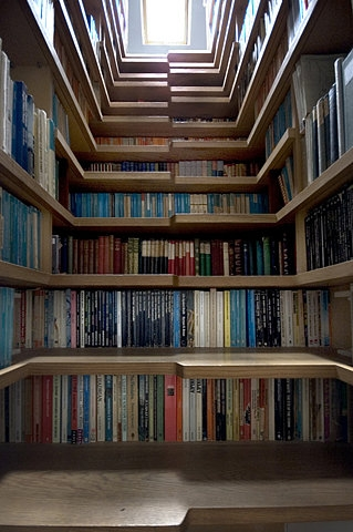 book and stairs image