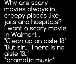 funny, walmart, and scary image