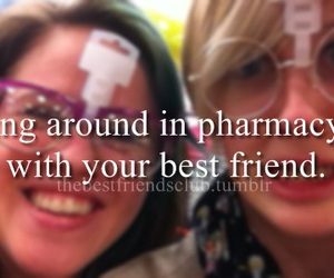 around, best friends, and goofing image