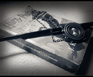 book, deathly hallows, and harry potter image