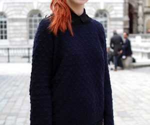 colored hair, girl, and red hair image
