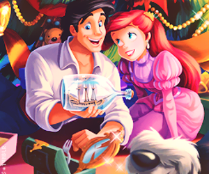 disney, ariel, and christmas image