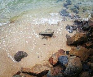 beach, sea, and brazil image