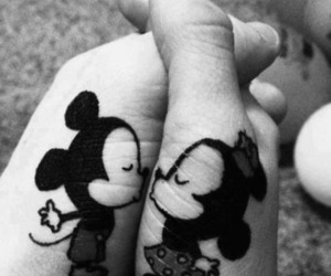 couple, kissing, and mickey image