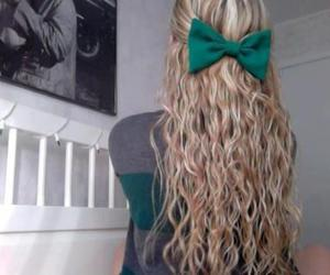 hair, blonde, and bow image
