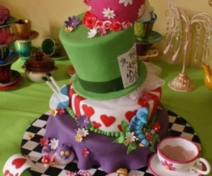 alice, alice in wonderland, and cake image