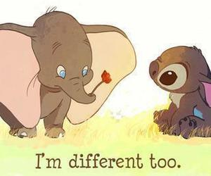 aww, different, and stich image