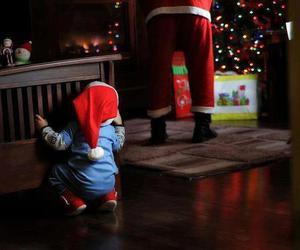 christmas, baby, and santa image