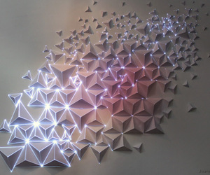 light, art, and origami image
