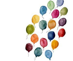 balloons, drawing, and art image